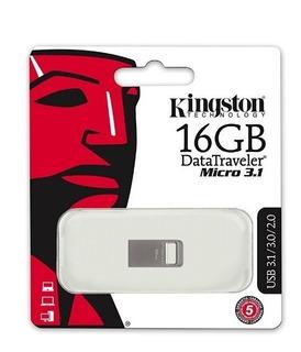 Pendrive Kingston Micro 3.1 Dtmc3/16gb El Más Pequeño