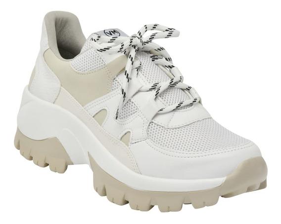Tênis Via Marte Branco Sneaker Feminino Plataforma