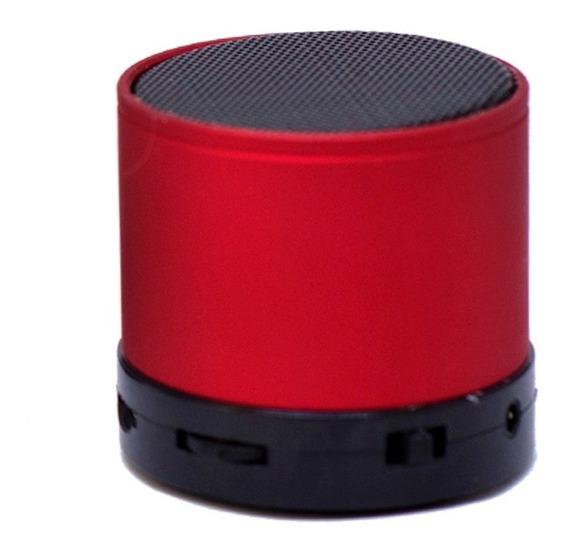 Mini Caixa De Som Bluetooth Sd Usb Radio Fm Mp3 Vermelho
