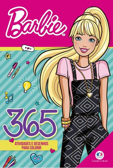 Livro Barbie - 365 Atividades E Desenhos Para Colorir