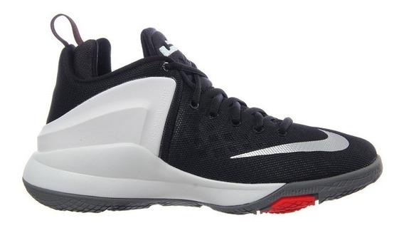 Tenis Nike Lebron Zoom Witness (gs) - Negro Blanco Basquet