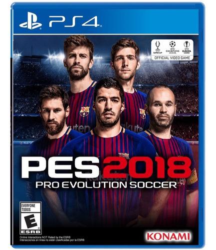 Pes 2018 Pro Evolution Soccer - Ps4 Fisico Nuevo & Sellado