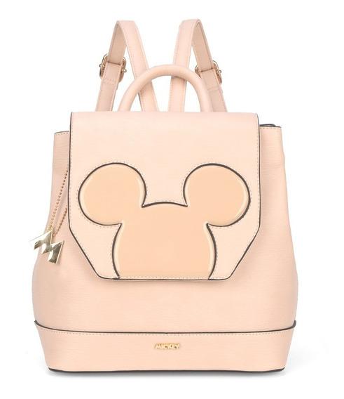 Bolsa Mochila Silhueta Verniz Mickey Mouse - Original Disney