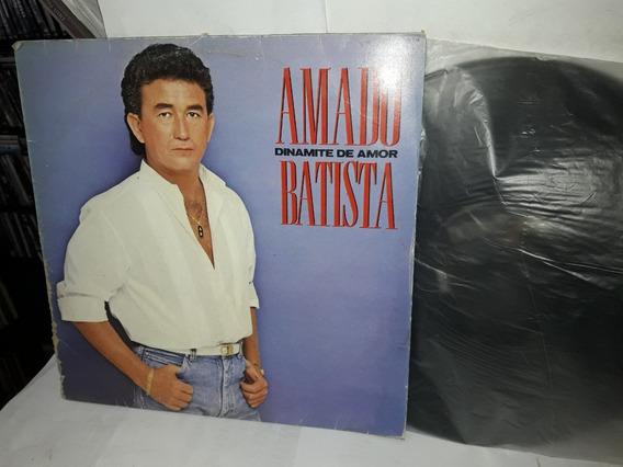 Lp Amado Batista Dinamite De Amor 1988 + Encarte Ne