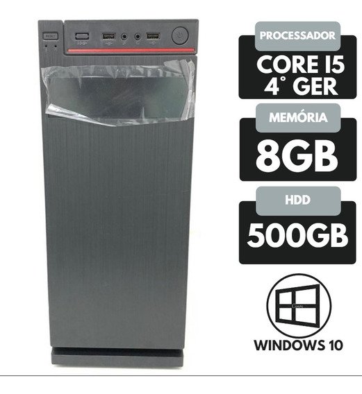 Desktop Nova Core I5 4° Ger Ram 8gb Hd 500gb