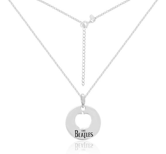 Colar Apple The Beatles Com Berloque Prata Maciça 925