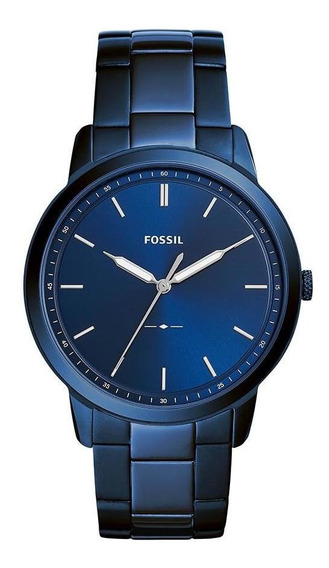 Relógio Fossil Masculino The Minimalist Azul Fs5461/1an