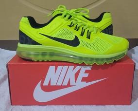 Tenis Nike Air Max 2013 Verde Limão Nº37 Original Na Caixa