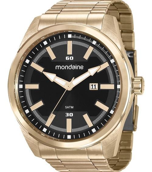 Relógio Mondaine Masculino Dourado Analógico