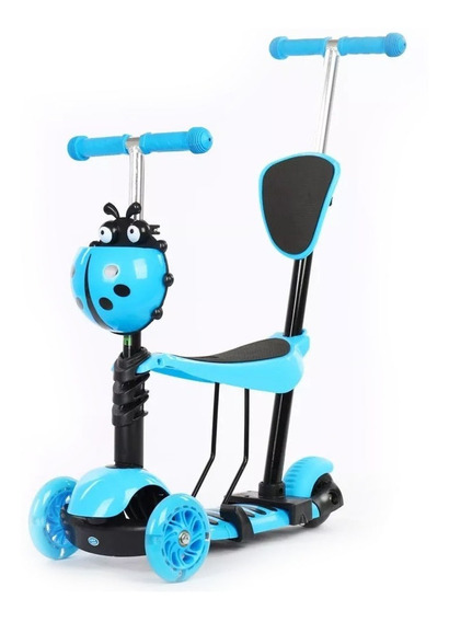 Patinete Infantil 3 Rodas 3x1 Triciclo Assento Empurrador