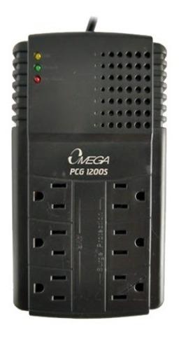 Regulador Omega Pcg 1200 De 6 Tomas 110v