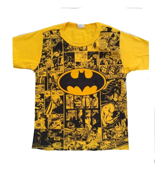 Kit 6 Camiseta Infantil Atacado Herois E Personagens