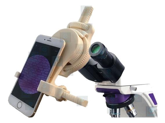 Adaptador Celular No Microscópio Para Tirar Fotos Videos