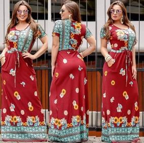 Vestido De Manguinha E Bolso Estampado Fechadinho Evangelica