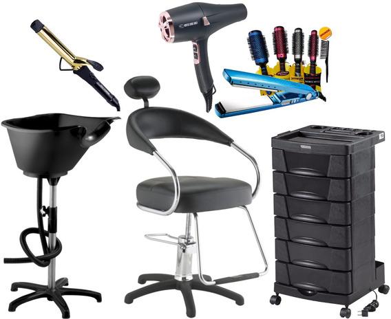 Cadeira Lavatório Carrinho Secador Prancha Modelador Escovas
