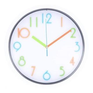 Reloj De Pared Free Home Redondo Letras Multicolor R Tk452