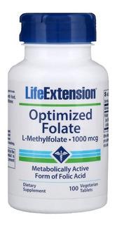 Metil Folato Metilfolato 100 Tabletes 1000 Mcg Life, Full