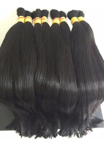 Cabelo Humano P/ Mega Hair Liso 60-65cm 100g Oferta