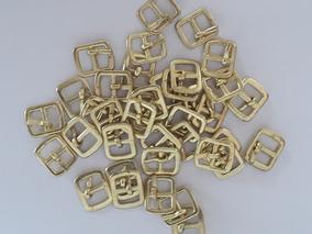 Fivela Pequena Fivelinha Sapatinho Bebe Dourada Kit 200 Und