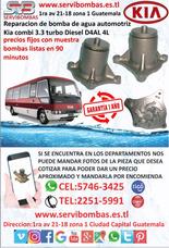 Reparación De Bombas De Agua Automotrices Kia Combi Turbo