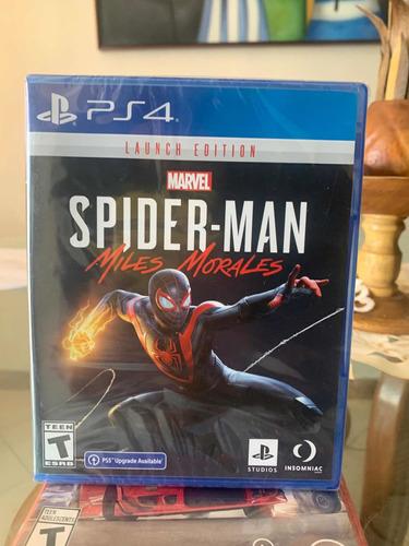 Juego Spiderman Miles Morales Físico Ps4 Nuevo Sellado