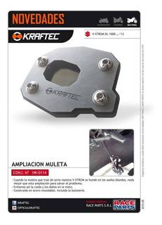 Ampliacion De Muleta Kraftec Suzuki Vstrom 1000 Moto Delta