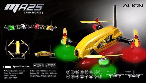 Drone Mr25 Racing Quad Combo 300mw - Rn42501xt Amarelo+brind