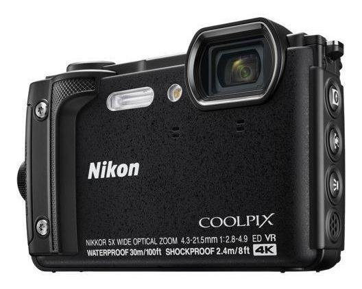 Câmera Nikon Coolpix W300 4k Prova Dágua Black Nota Fiscal