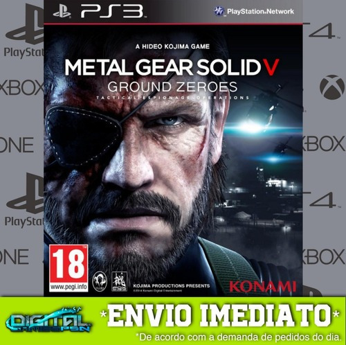 Metal Gear Solid V Ground Zeroes Ps3 Envio 15min.