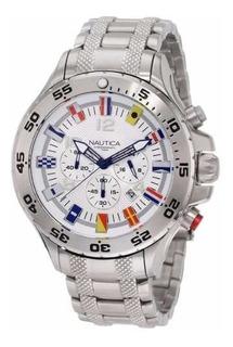 Reloj Hombre Náutica N20503g Crono En Acero 100% Original