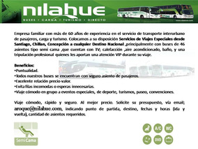 Arriendo De Bus,buses, Viajes Especiales,turismo