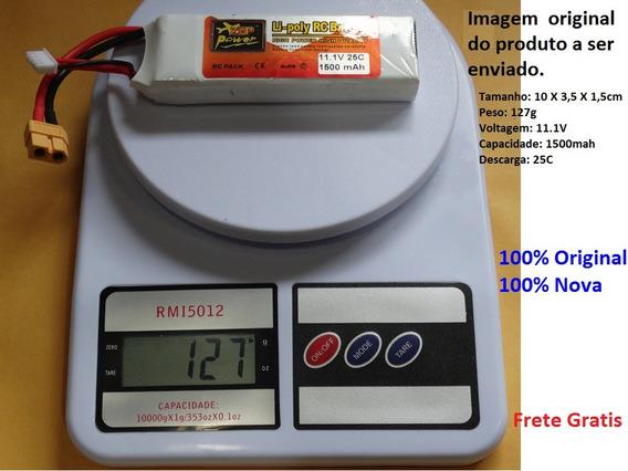 Bateria Zop Power 100% Original 1500 Mah 11.1v 25c Plug Xt60