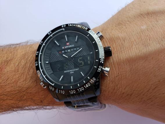 Relógio Masculino Elegante Casual Naviforce Original Nf9024