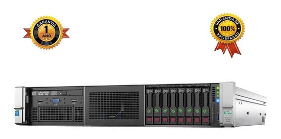 Servidor Hp Dl380 G9 Xeon Decacore, 16 Gb Ram Ddr4, Sas Sata Ssd, 4 Portas Rede Gigabit, Garantia De 1 Ano