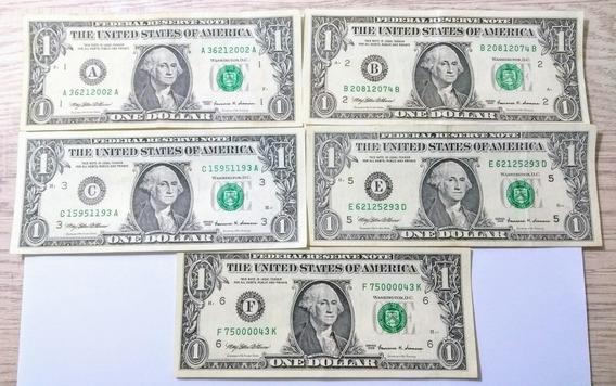 Ce011 Kit 9 Und America Cédula 1 Dólar Série 1999