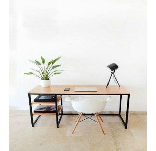 Escritorio Minimalista C Entrepaños Computadora Home Office