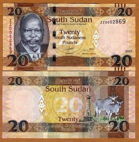 Sudão Do Sul 20 Libras 2015 P. New Fe Cédula - Tchequito