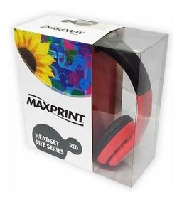 Headset Maxprint Life Series Vermelho 6012106 24161