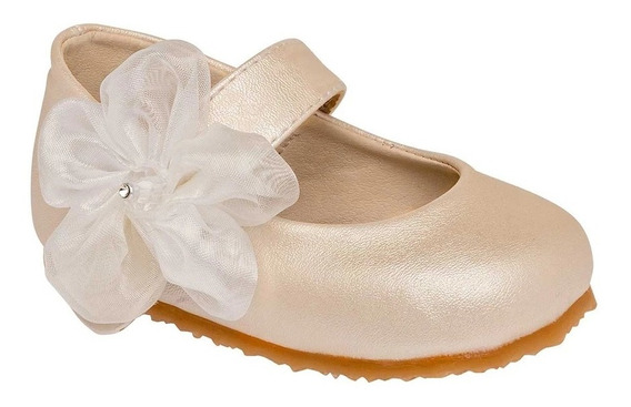 Zapato Recién Nacido Niña Bebe Sexy Girl 49 Beige 09-12 Bautizo 084-708 T4