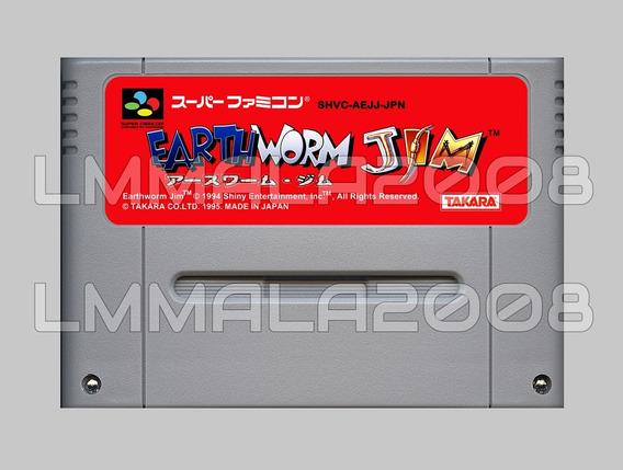 Earthworm Jim 1 Ingles Original Snes Super Nintendo