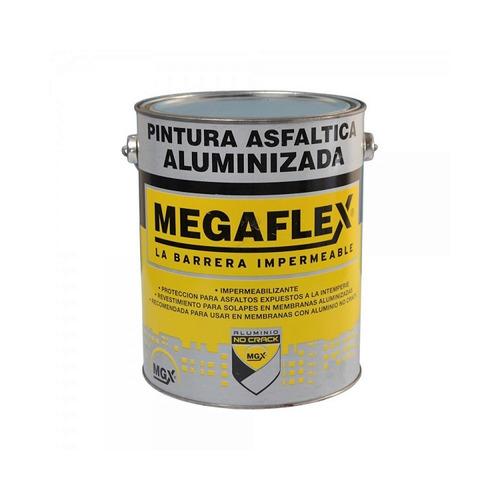 Megaflex Pintura Asfáltica Aluminizada 1 Lt.