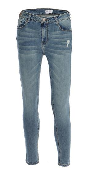 Jeans Básicos De Mujer C&a Corte Push Up Stretch