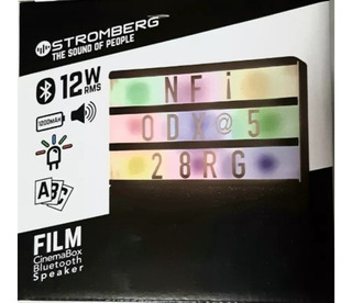 Parlante Stromberg Film Cinemabox Bluetooth Speaker 12 Watts