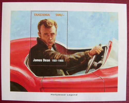 Tanzania, Bloque James Dean Hollywood Legends Mint L6623