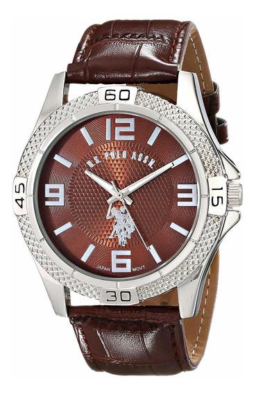 Relógio U.s. Polo Assn. Homem Masculino Tom Prata Clássico