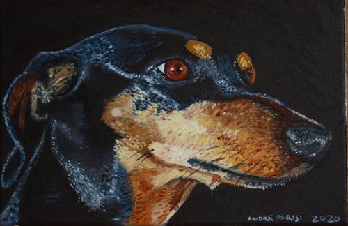 Imagem 1 de 10 de Retratos De Cães Sob Encomenda. Tamanho 20x20.