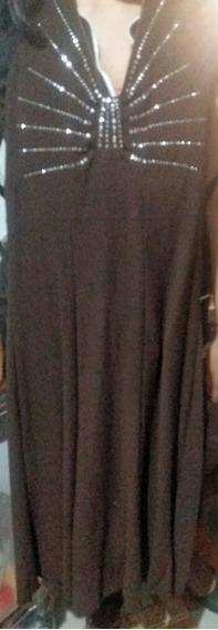 Vestido Marrón Tipo Cóctel Sencillo