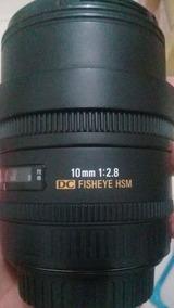Lente Sigma 10mm F2.8 Ex Dc Fisheye