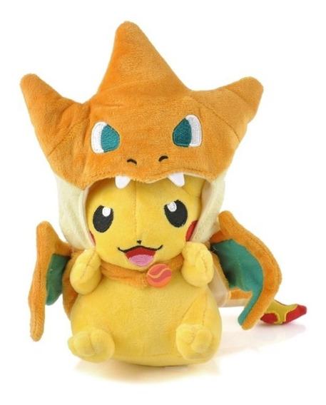 Nuevo Pokemon Pikachu Riendo Mega Charizard Y Gamer Peluche