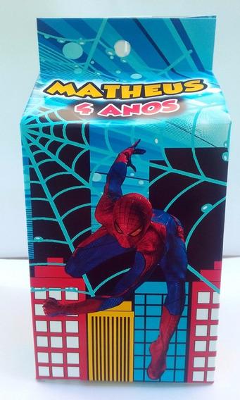 Caixa Milk Personalizada Homem Aranha 20 Unidades